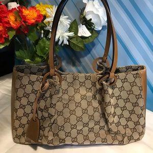 Authentic Gucci tote bag  canvas